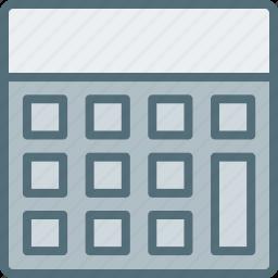 calculator, device, gadget, hardware, tech icon
