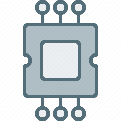 chipset, computer, device, electronic, hardware, tech icon