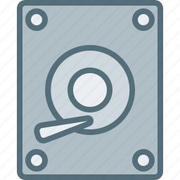computer, device, disk, electronic, hard, hardware, tech icon