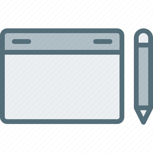 computer, device, electronic, hardware, pen, tablet, tech icon