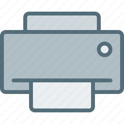 computer, device, electronic, hardware, printer, tech icon
