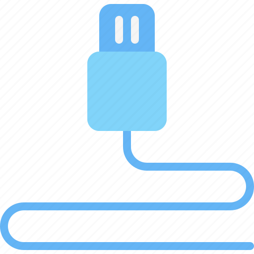 cable, computer, device, electronic, hardware, tech, usb icon