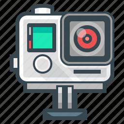 camera, device, extreme, extreme camera, film, gopro icon