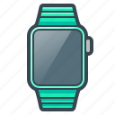 apple, clock, device, digital, iwatch, smart watch, watch icon