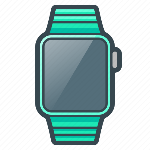 apple, clock, device, digital, iwatch, smart watch, watch icon