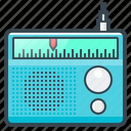 appliances, electronics, equipment, music, radio, sound icon
