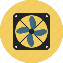 computer, exhaust, extractor, fan, indoor, peripheral, small icon