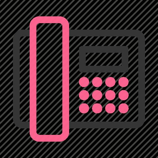 call, communication, device, hardware, phone, technology, telephone icon
