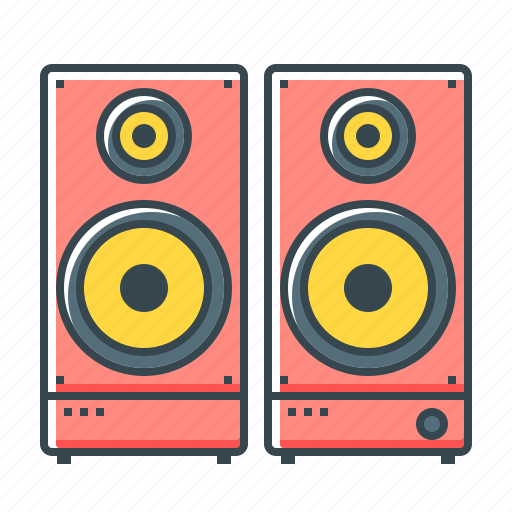 acoustic system, acoustics, audio, electronics, sound icon