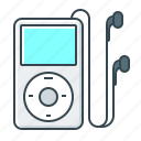 classic, devices, headphones, ipod, ipod classic, player icon