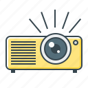 device, film, projector icon