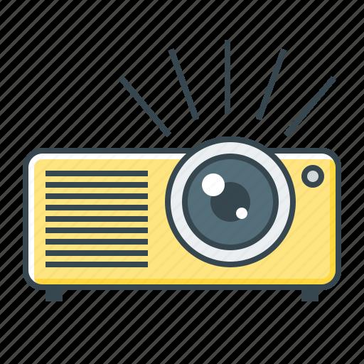 device, film, projector icon