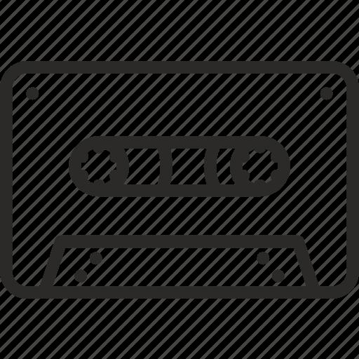 audio, cassete, music, oldschool, record, tape icon