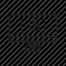 computer, device, hardware, javascript, js, line icon