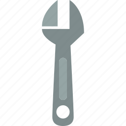 adjustable, nut, screw, wrench icon