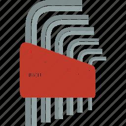 allen, hex, key, tools icon