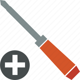 cross, head, plus, screwdriver, tool icon