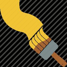 brush, brushwork, flat brush, paint, painting, paintwork icon