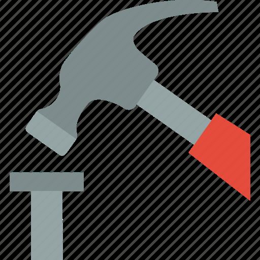 hammer, hardware, mart, nail, tool icon