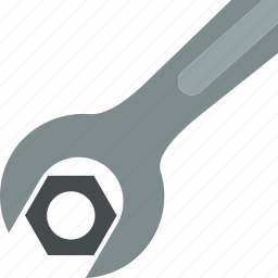 hex, nut, screw, tightening, tool, wrench icon