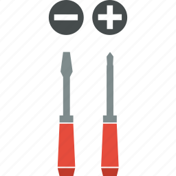 cross, head, screwdrivers, slotted, tools icon
