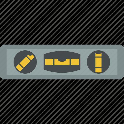 bubble, level, spirit, tool icon