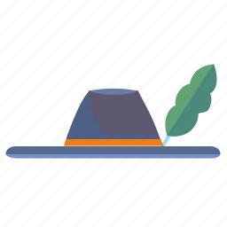 feather, hat, headdress, hunter icon