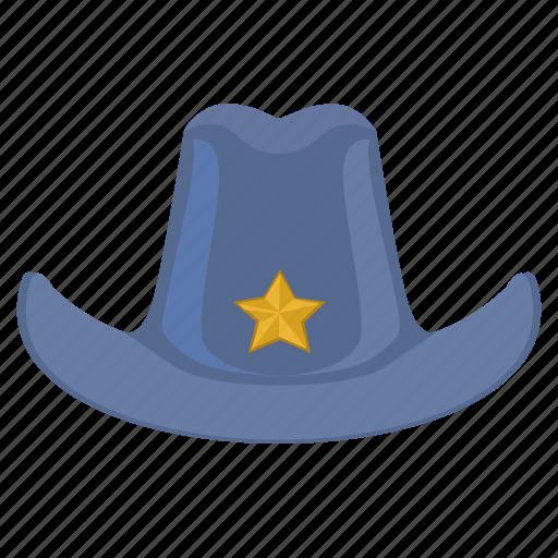hat, head, headdress, man, police icon