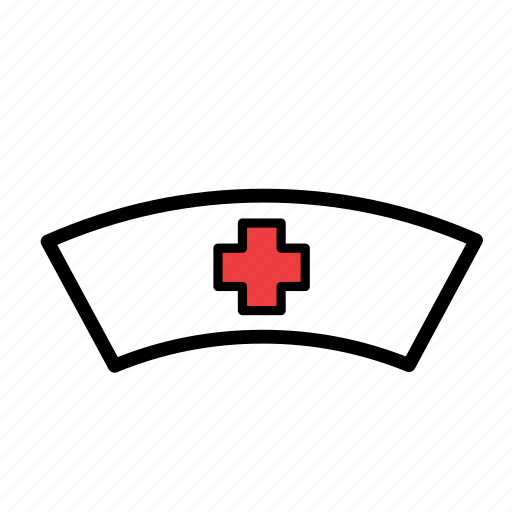 hat, headwear, nurse icon