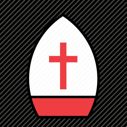 hat, headwear, pope icon