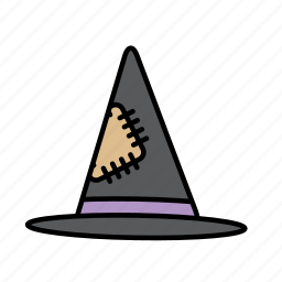 hat, headwear, witch icon