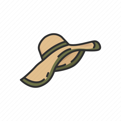 beach hat, cap, clothing, fashion, hat, summer hat icon
