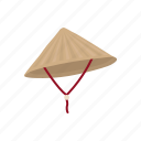 asian hat, cap, chinese hat, conical hat, naive cap, straw hat icon