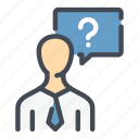 answer, candidate, chat, faq, job, question icon