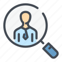 candidate, employee, find, job, search, work icon