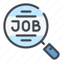 find, job, magnifier, offer, search, work icon