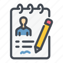 cv, job, pen, report, result, resume, review