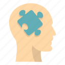 brain, concept, head, idea, intelligence, mind, puzzle icon