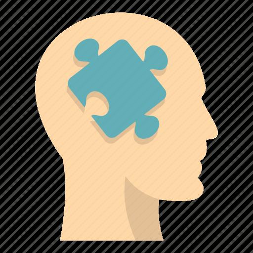 brain, concept, head, idea, intelligence, mind, puzzle icon