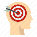 aim, arrow, head, human, idea, people, target icon