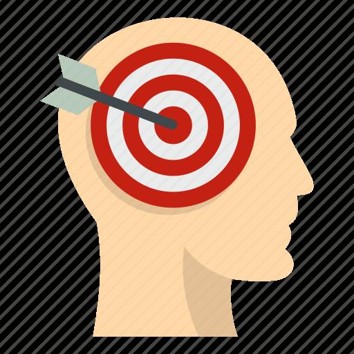aim, arrow, head, human, idea, people, target icon