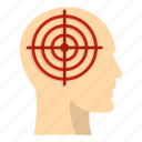 aim, crosshair, head, human, idea, people, target icon