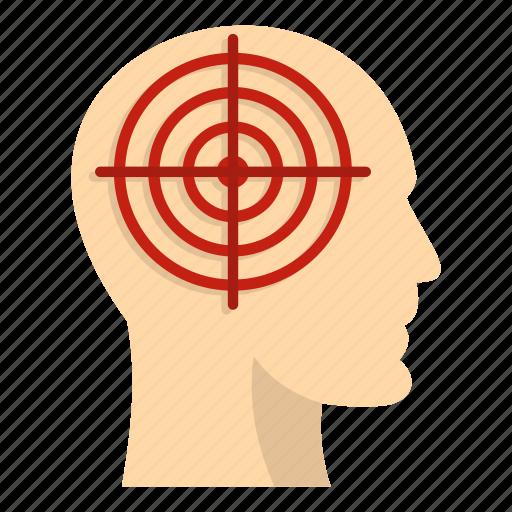 aim, crosshair, head, human, idea, people, target icon