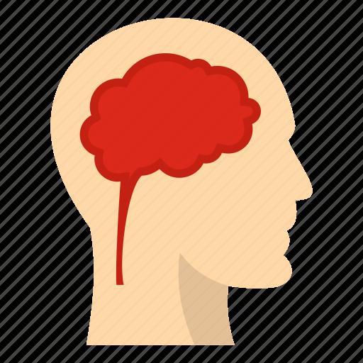 brain, head, human, idea, intelligence, mind, think icon