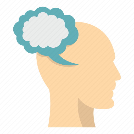 brain, bubble, cloud, head, human, people, sbeech icon