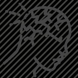 break, cluster, headache, migraine, sick icon