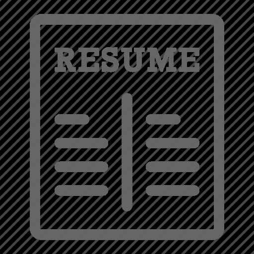 career, cv, document, headhunting, job, occupation, resume icon