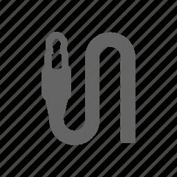 audio, cord, jack, media, multimedia, plug, wire icon