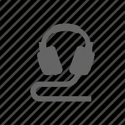 audio, headphones, media, multimedia, music icon