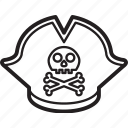 hat, headwear, pirate, piratehat, tricorn icon